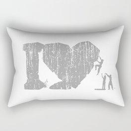 I Love Bouldering (white) Rectangular Pillow