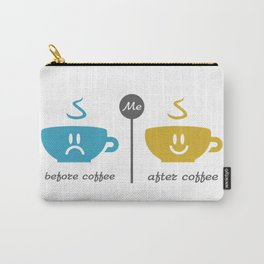 Before and after coffee #society6 #decor #buyart #artprint Carry-All Pouch