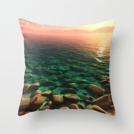 Sun Worship Throw Pillow