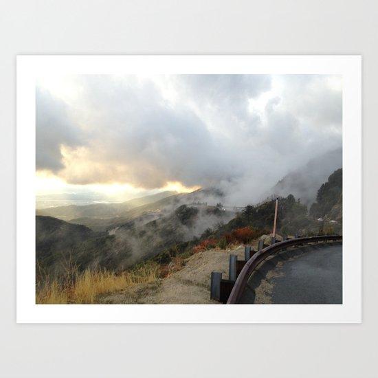 Outside Twin Peaks 4 Art Print