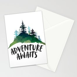 Adventure Awaits, Motivational Quote, Arrow Print, Gift Idea, Printable Art Stationery Cards