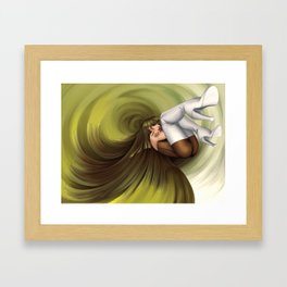 Time Antigrav - green Framed Art Print