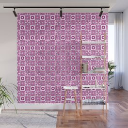 Lines and Shapes - Fuscia Wall Mural