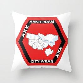 Amsterdam City Wear 1 Throw Pillow