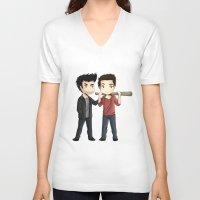 sterek V-neck T-shirts featuring Sterek by agartaart