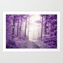 Take me home where I belong (deep purple forest) Art Print