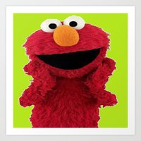 duvet cover Art Prints featuring ELMO DUVET COVER by aztosaha