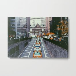 Outside Grand Central, NYC Metal Print