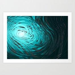 Complex Spiral-Aqua Art Print