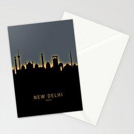 New Delhi India Skyline Stationery Cards