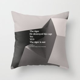 inspirational poem on 3d render Throw Pillow ccd016496