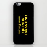 tarantino iPhone & iPod Skins featuring Written And Directed By Quentin Tarantino by FunnyFaceArt