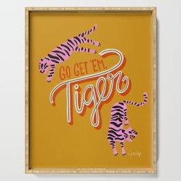 Go Get 'Em Tiger – Yellow Palette Serving Tray