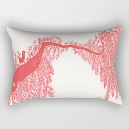 The Songbird and the tree (Red Version) Rectangular Pillow