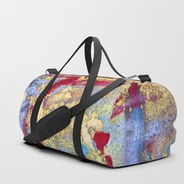 Textures in paint Duffle Bag