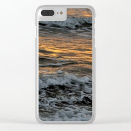 Gold Waves Clear iPhone Case