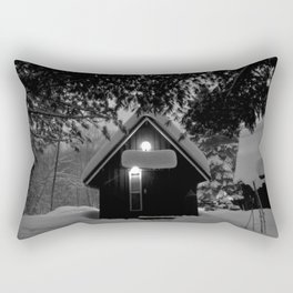 cozy cabin in the woods Rectangular Pillow