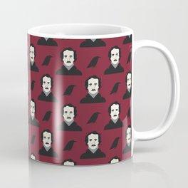 Poe- Burgendy Coffee Mug