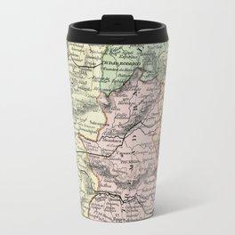 Spain and Portugal Vintage Map Travel Mug