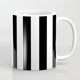 Abstract Black and White Vertical Stripe Lines 8 Coffee Mug
