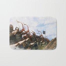 Medieval Army in Battle Bath Mat