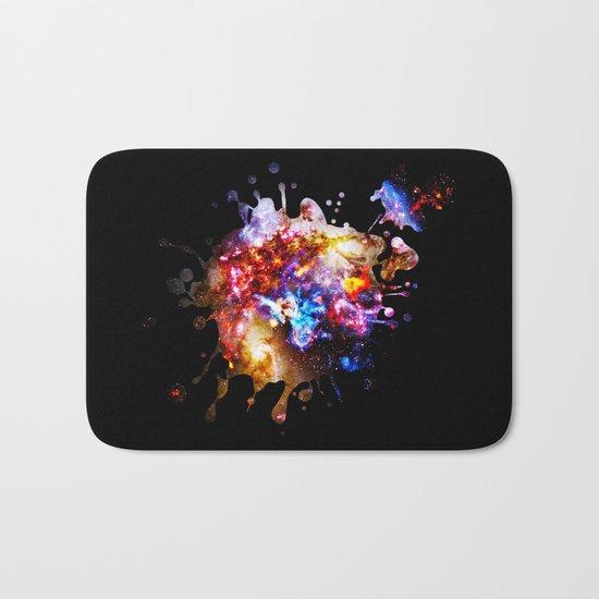 Abstract Galaxy Splatter Bath Mat