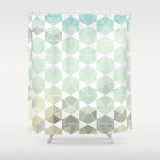 Geometric Sand & Sea Shower Curtain