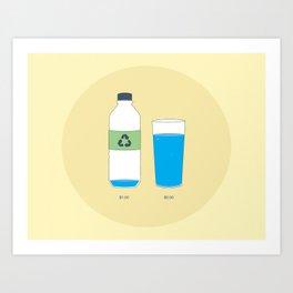 Bottled Water Art Print