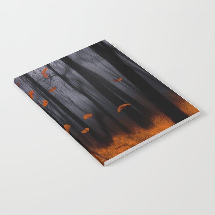 Feather dance (orange) Notebook