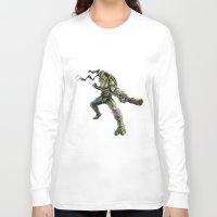 ninja turtles Long Sleeve T-shirts featuring Ninja Turtles: Donatello  by Michele Giorgi