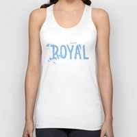 royal Tank Tops featuring Royal by Black Bottle Art co.