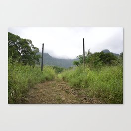 The Jurassic Park Gates Canvas Print