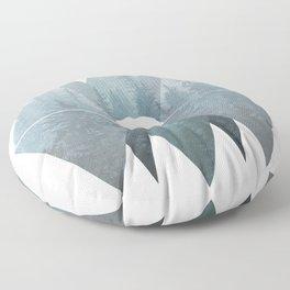 Misty Forest Mountain Bear Floor Pillow