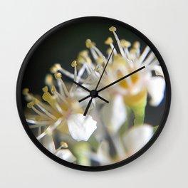 tiny white Wall Clock