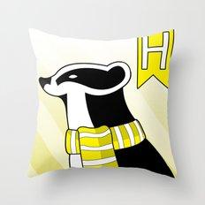Hufflepuff Badger Throw Pillow