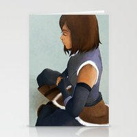 korra Stationery Cards featuring Korra by Mannj