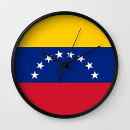 National flag of  Venezuela - Authentic version Wall Clock