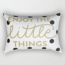 Enjoy the Little Things Saying Rectangular Pillow