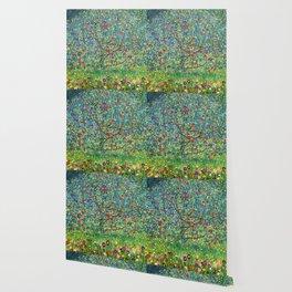"""Gustav Klimt """"Apple tree"""" Wallpaper"""