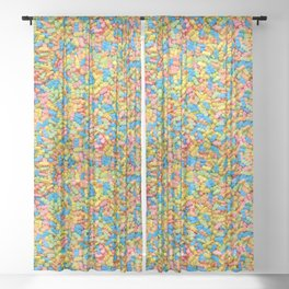 Mini Baby Pacifier Pastel Candy Pattern Sheer Curtain