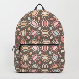 Retro pattern. Beans. Backpack