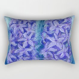 Hyacinths, blue and violet Rectangular Pillow