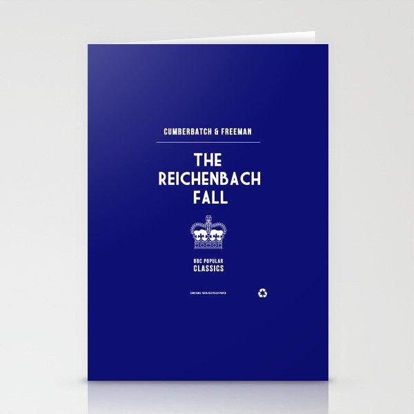 BBC Sherlock The Reichenbach Fall Minimalist Poster Stationery Cards