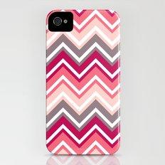 Pink Zig Zag Slim Case iPhone (4, 4s)