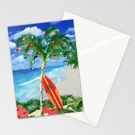 Beach Christmas Stationery Cards