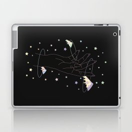 Lost One - Space Pizza Illustration Laptop & iPad Skin