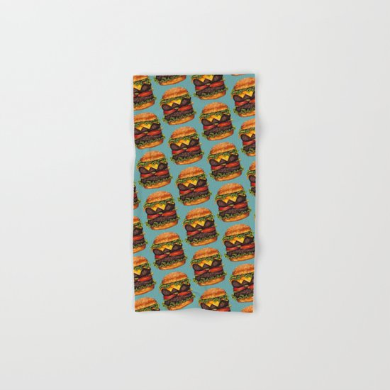 Double Cheeseburger Pattern Hand & Bath Towel