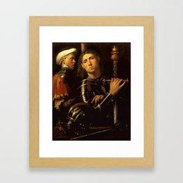 "Giorgione ""The ""Gattamelata"". Man in armour with a squire"" Framed Art Print"
