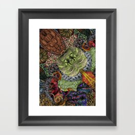 Psychedelic Botanical 10 Framed Art Print