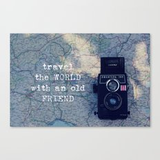 travel the world with an old friend Canvas Print